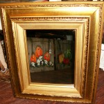 Square Gold Frame Mirror