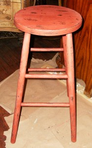 Stool after using CeCe Caldwell Sedona Red